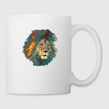 Strong Lion Illustration Wild Freedom Man - Coffee/Tea Mug