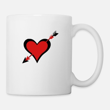 Love Struck ➸♥Ouch-Hearts struck by Cupid's arrows♥↢ - Mug