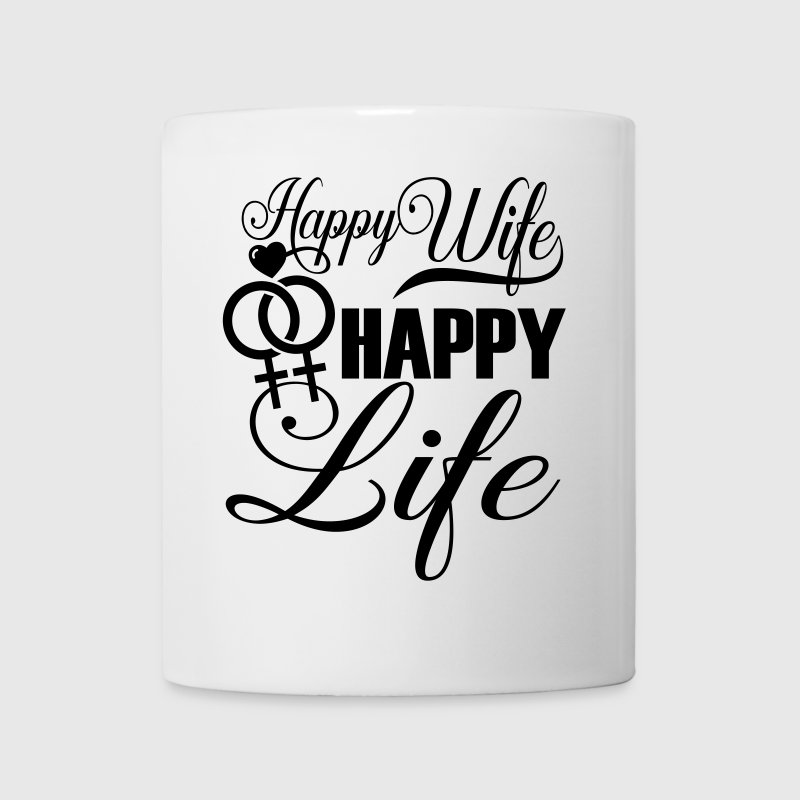 Happy Wife Happy Life LGBT Pride - Coffee/Tea Mug