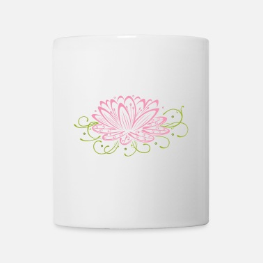 Flower Lotus flower with filigree tribal - Mug