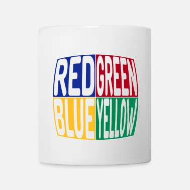 Yellow red green blue yellow - Coffee/Tea Mug