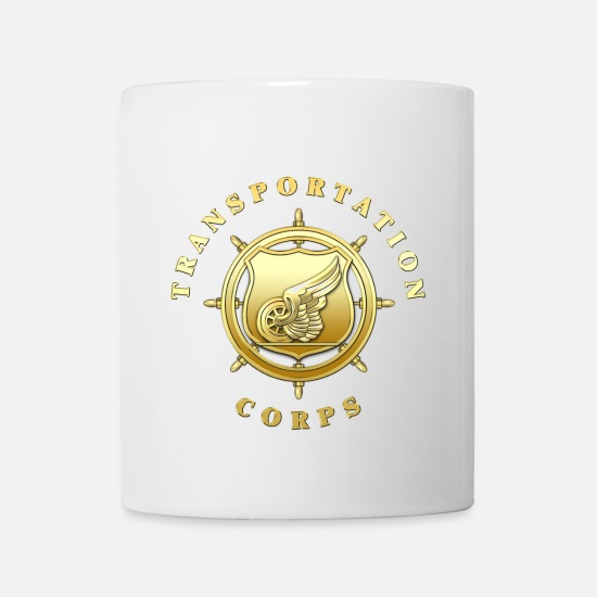 Transportation Mugs & Drinkware - Transportation Corps Branch Insignia - Mug white