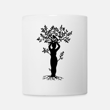 Tree Tree woman with a cardinal - Coffee/Tea Mug