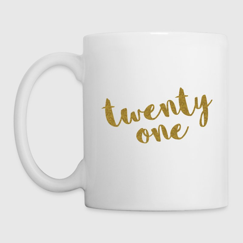 Twenty One / 21 Glitter Birthday Quote - Coffee/Tea Mug
