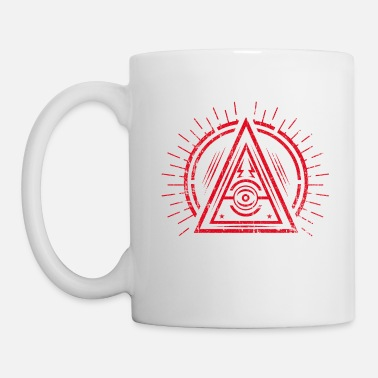 Eye Monitoring Illuminati - All Seeing Eye - Satan / Black Symbol - Mug