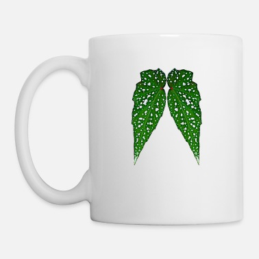 Angel Leafy Angel Wings Digital Cartoon Lucky 6 Design - Mug