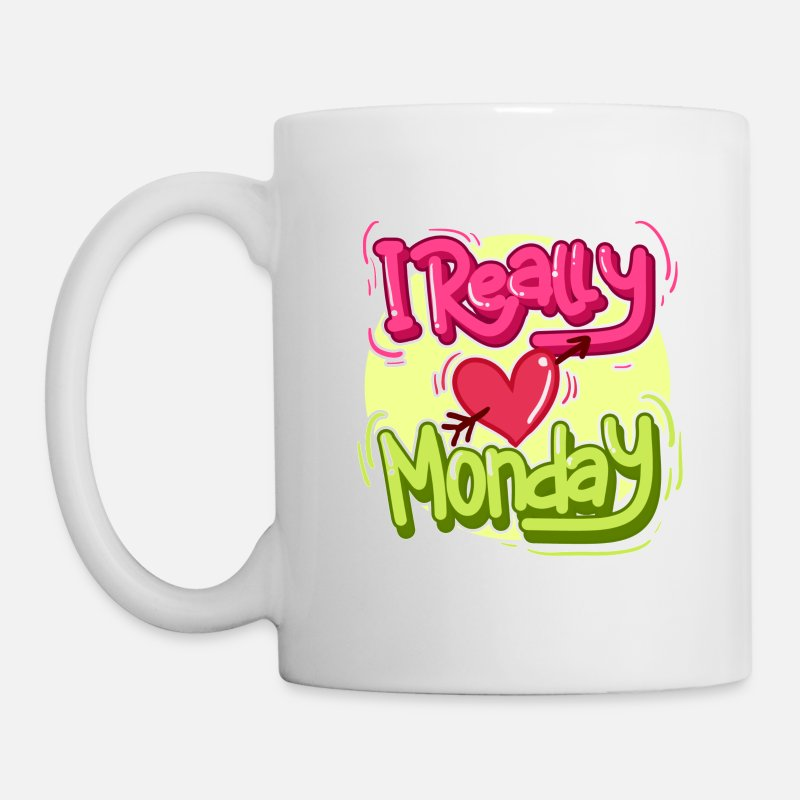 Bestseller Mugs & Drinkware - I really love Monday! - Mug white