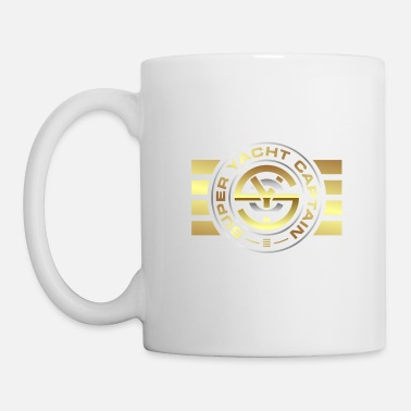 Super Super Yacht Captain Logo with Stripes - Mug