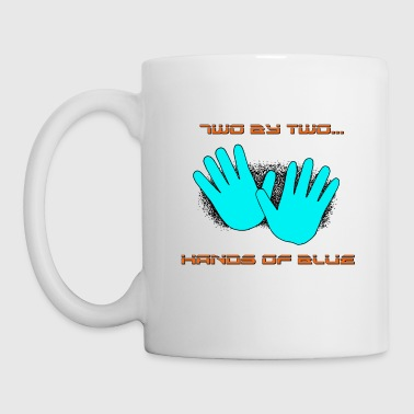 two by two hands of blue - Coffee/Tea Mug