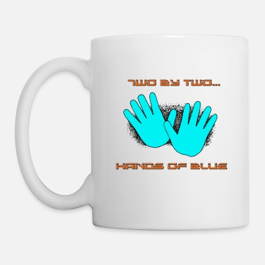 Two two by two hands of blue - Coffee/Tea Mug
