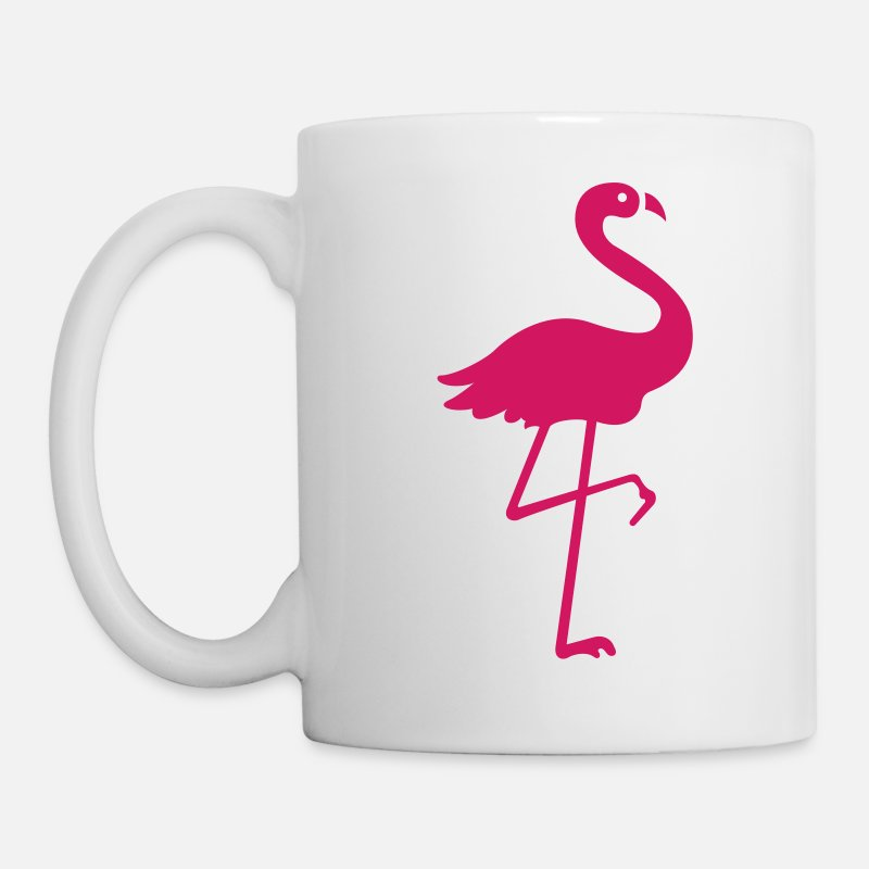 Bird Mugs & Drinkware - Flamingo VECTOR - Mug white