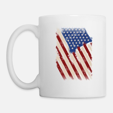 American Flag In Distress Distressed American Flag, American Flag - Mug