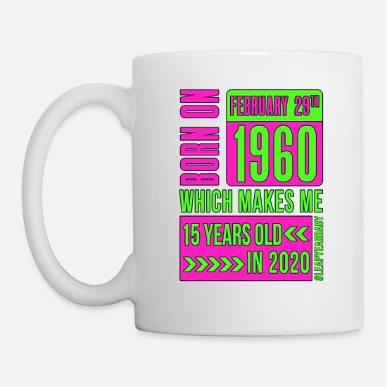 Year Mugs & Drinkware - 15 years old PINK - Mug white