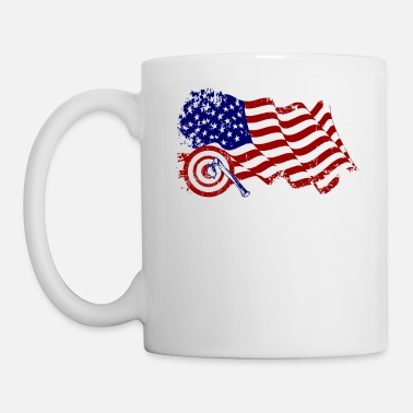 Bad Axe Throwing USA Axe Flag Vinatage American Hatche - Mug