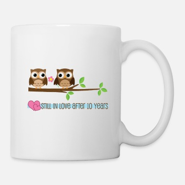 Ten Years After 10th Anniversary Owl Love - Mug