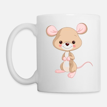 Mouse Cute Cartoon Mouse - Mug