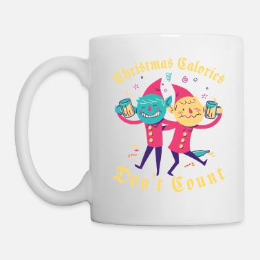 Christmas Calories Don't Count | Drinking Elves - Coffee/Tea Mug