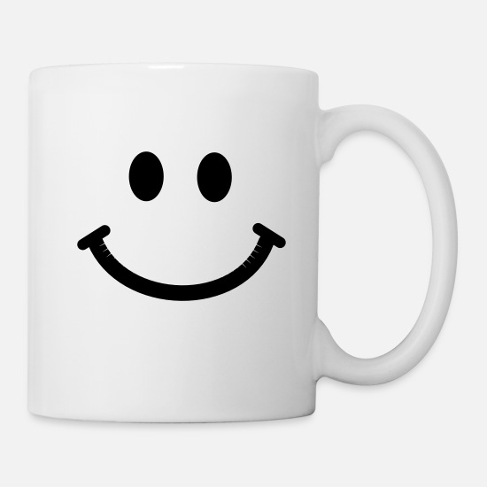 Face Mugs & Drinkware - Happy Smiley Face - Mug white