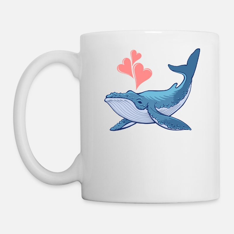 Christmas Mugs & Drinkware - Whale Love - Mug white