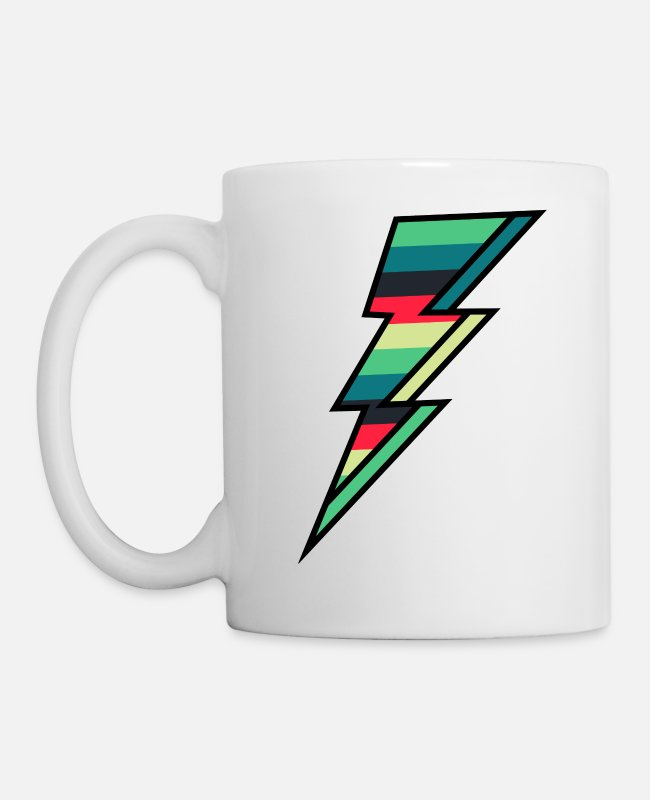 Zeus Mugs & Cups - Thunder bolt - Flash - Mug white