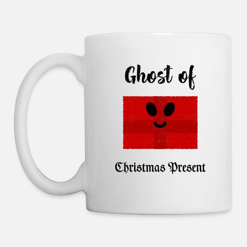 Coffee Christmas Puns.Ghost Of Christmas Present Coffee Tea Mug White