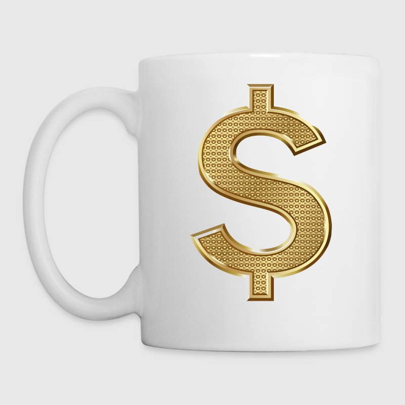 Golden Dollar Sign - Coffee/Tea Mug