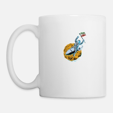 Iran Flag Astronaut Space Flag Iran - Coffee/Tea Mug