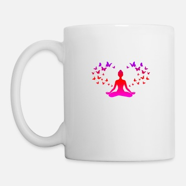 Year Yoga Meditation Butterflies Mindfulness Gift Idea - Mug