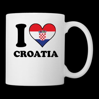 I Love Croatia Croatian Flag Heart - Coffee/Tea Mug