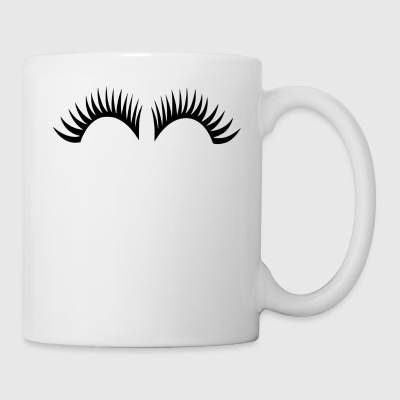 eye lashes - Coffee/Tea Mug