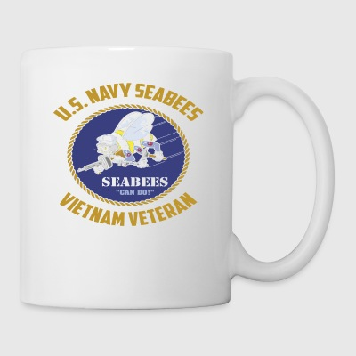US Navy Seabees Vietnam Veteran TShirt - Coffee/Tea Mug