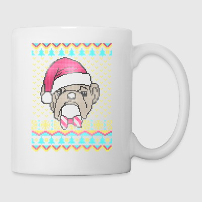 Old English Bulldog Ugly Christmas Sweater present - Coffee/Tea Mug