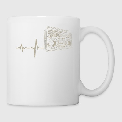 shirt gift heartbeat radio - Coffee/Tea Mug