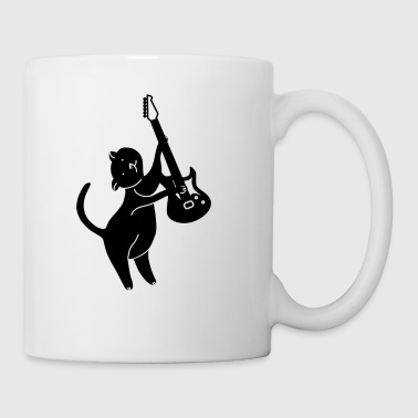 cat playing guitar - Coffee/Tea Mug
