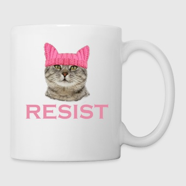Resist Persist Pussy Cat Hat - Coffee/Tea Mug