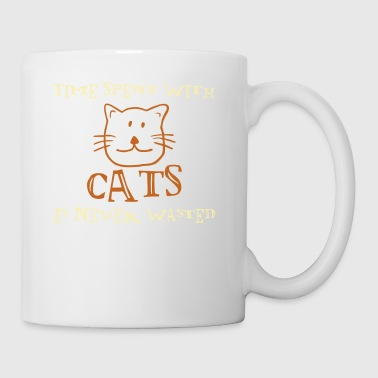 Time Spent With Cats Is Never Wasted - Coffee/Tea Mug
