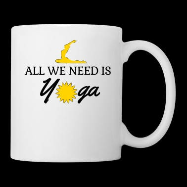 All we need is yoga Vector - Coffee/Tea Mug