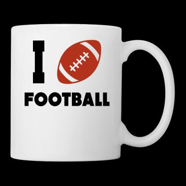 I love football. - Coffee/Tea Mug