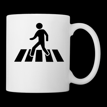 Zebra Crosswalk Traffic Sign Present Black - Coffee/Tea Mug
