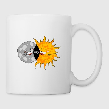Total Solar Eclipse T-shirt. Funny Sun and Moon - Coffee/Tea Mug