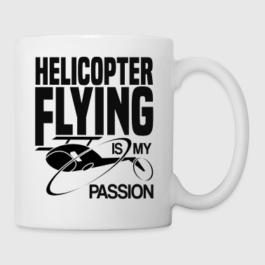 Helicopter flying is my passion pilot shirt gift - Coffee/Tea Mug