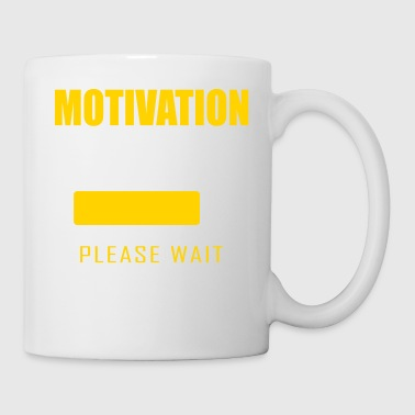 Motivation loading Funny student pupil worker - Coffee/Tea Mug