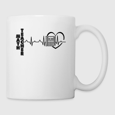 Math Teacher Heartbeat Mug - Coffee/Tea Mug