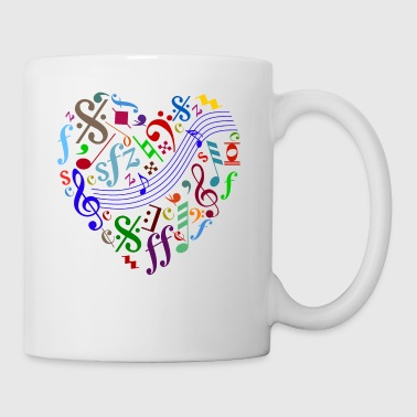 heart out of music signs and notes - Coffee/Tea Mug