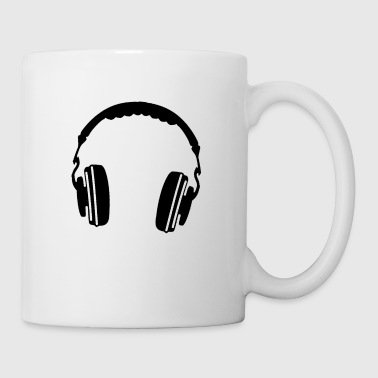 Black Headphones - Coffee/Tea Mug