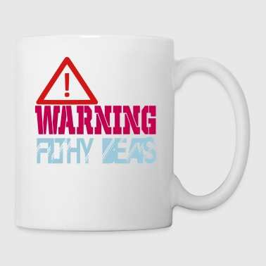 warning filthy beats - Coffee/Tea Mug