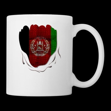 Funny Afghanistan Flag Ripped Abs Muscles - Coffee/Tea Mug