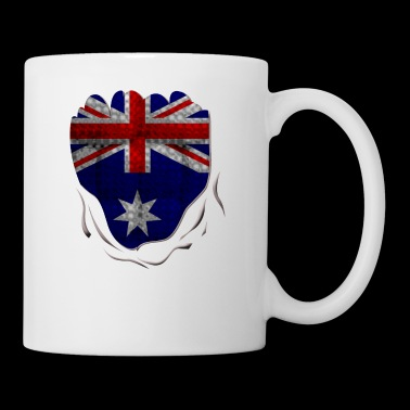 Funny Australian Flag Ripped Abs - Coffee/Tea Mug