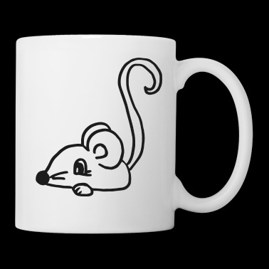 sweet mouse looking for cheese , gift idea - Coffee/Tea Mug