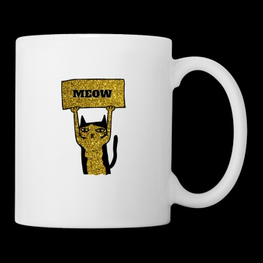 Awesome LOVE Cats Gold Glitter - Coffee/Tea Mug